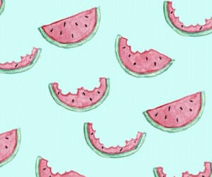 wallpaper, watermelon, and food image