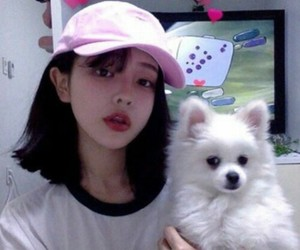 ulzzang, dog, and korean image