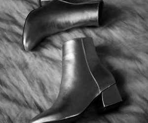 silver ankle booties image