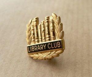 badge, books, and enamel image