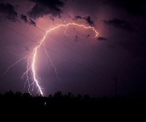 sky, lightning, and tumblr image