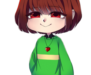 chibi, chara, and undertale image