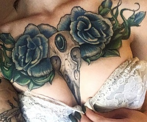 aesthetic, chest piece, and feminine image
