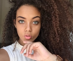 beautiful, curly, and black image