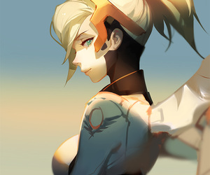 overwatch, anime, and mercy image