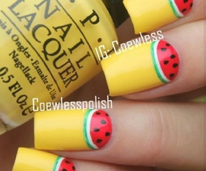 cool, fruit, and nail art image