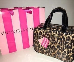 bag, leopard, and pink image
