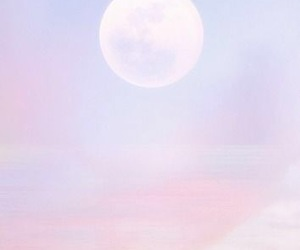 moon, pastel, and sky image