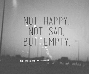 empty, sad, and happy image