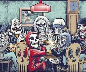 iron maiden, megadeth, and misfits image