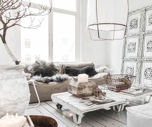 home, white, and decor image