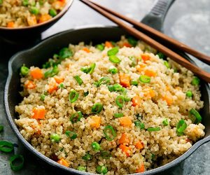 fried rice and quinoa image