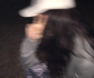 blurry, dark, and girl image