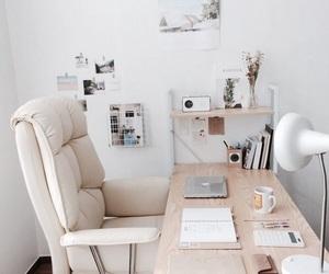desk, interior, and room image