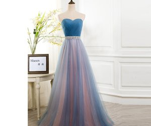 evening gown, long dress, and party dress image