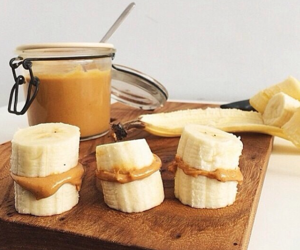 banana, healthy, and food image