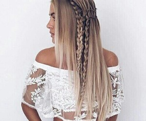 beach, fashion, and hairstyle image