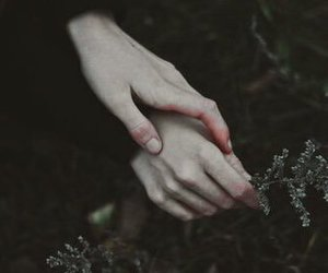 hands, pale, and dark image