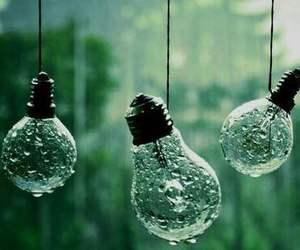 rain, green, and light image