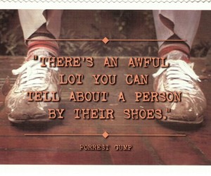 quote, shoes, and forrest gump image