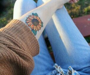 tattoo, fashion, and girl image