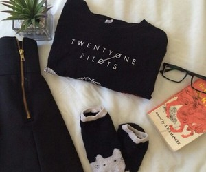 black, book, and clothes image