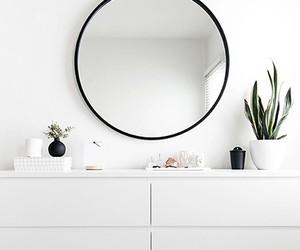 mirror, white, and minimal image