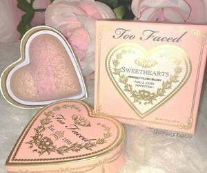 pink, too faced, and makeup image