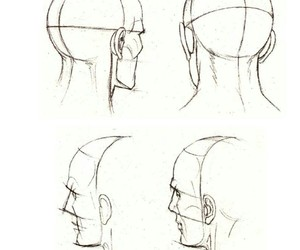 art, drawing, and head image
