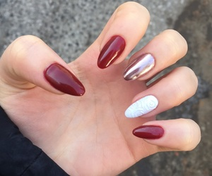mirror, nails, and red image