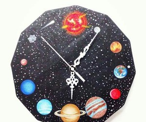 clock, decor, and cosmos image