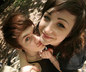 couple, boy, and piercing image