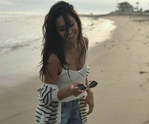 shay mitchell, beach, and pretty little liars image
