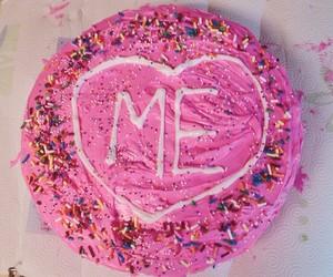 cake, pink, and me image