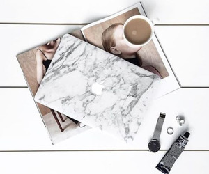 coffee, marble, and apple image