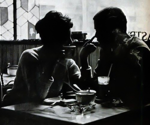 black and white, love, and couple image