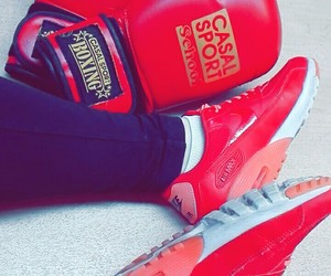 boxing, nike, and red image