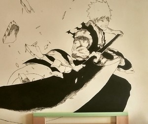 bleach, Ichigo, and blackandwhithe image