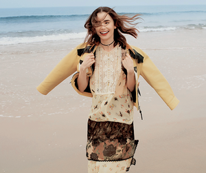lily collins and instyle magazine image
