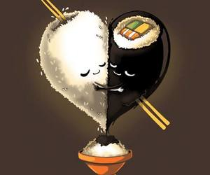 sushi, funny pictures, and san valentin image