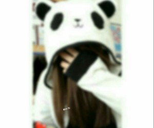 girl and panda image