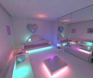 room, light, and neon image