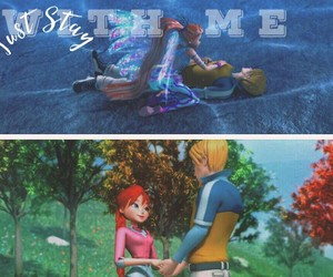 bloom, winx, and sky image
