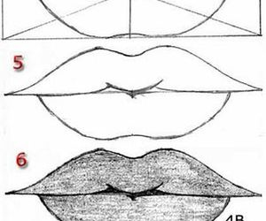 lips, art, and draw image