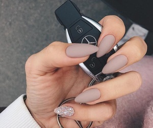 almond, nails, and silver image