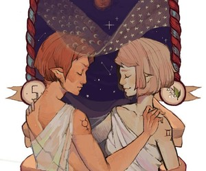 art, gemini, and zodiac image