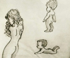 babies, drawing, and children image