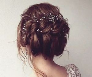 beauty, flowers, and bride image
