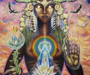 psychedelic art, spiritual art, and amazing painting image