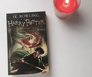 book, candle, and harry potter image